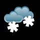 облачно, кратковременный снег