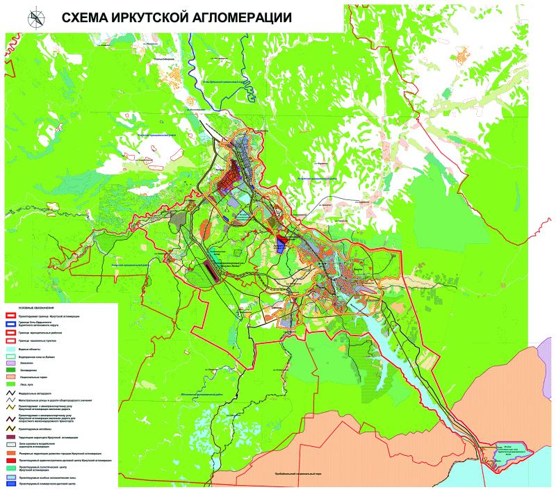 Схемы Иркутской агломерации