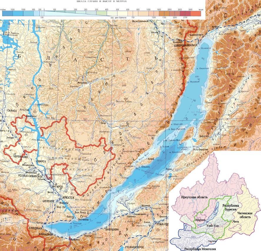 Карта-схема Байкальской