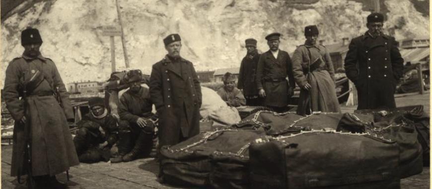 Отправка почты под конвоем на озере Байкал