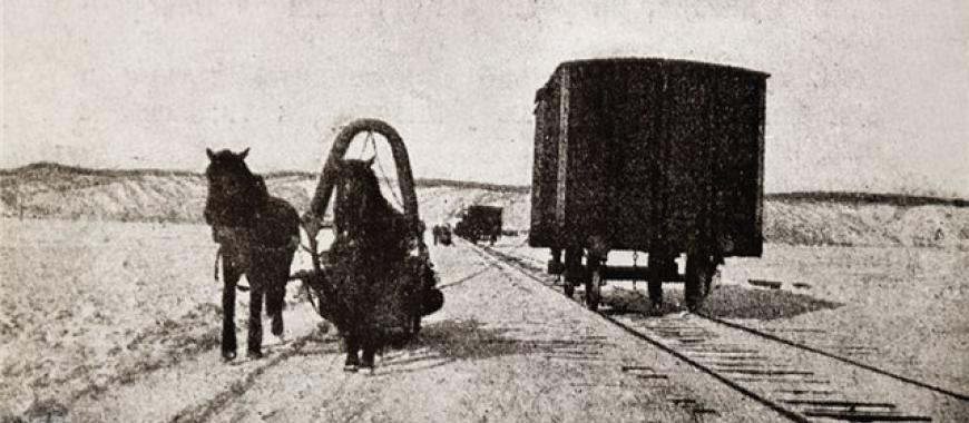 Железная дорога, проложенная по льду Байкала