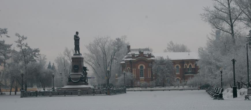 Бульвар Гагарина в Иркутске. Современный вид