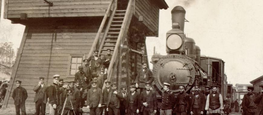 Служащие Иркутского вагонного депо. Начало ХХ века