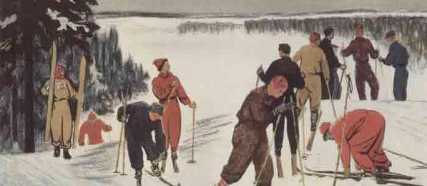 Н.И. Костров. «Лыжники»