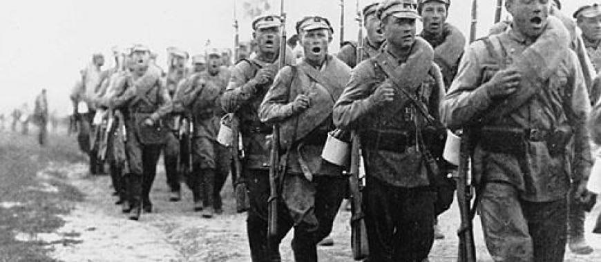 Бойцы РККА на марше