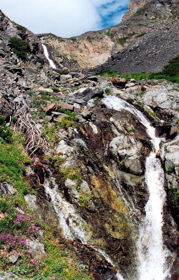 Миллионы лет наполняют чашу Байкала многочисленные реки и ручьи, принося в него холодность и чистоту заоблачного мира. На снимке: вершина ручья Скалистого. Северо-западное побережье.