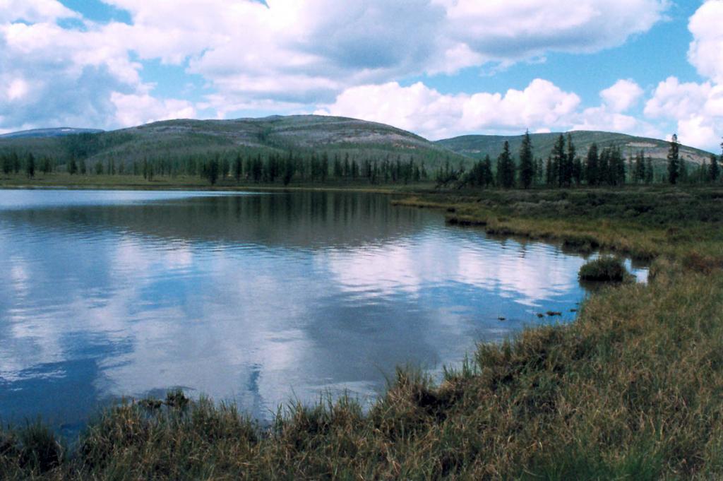 Озеро Малое Лосиное лежит вблизи устья речки Шартлинская Лена. Байкальский хребет. Байкало-Ленский заповедник.