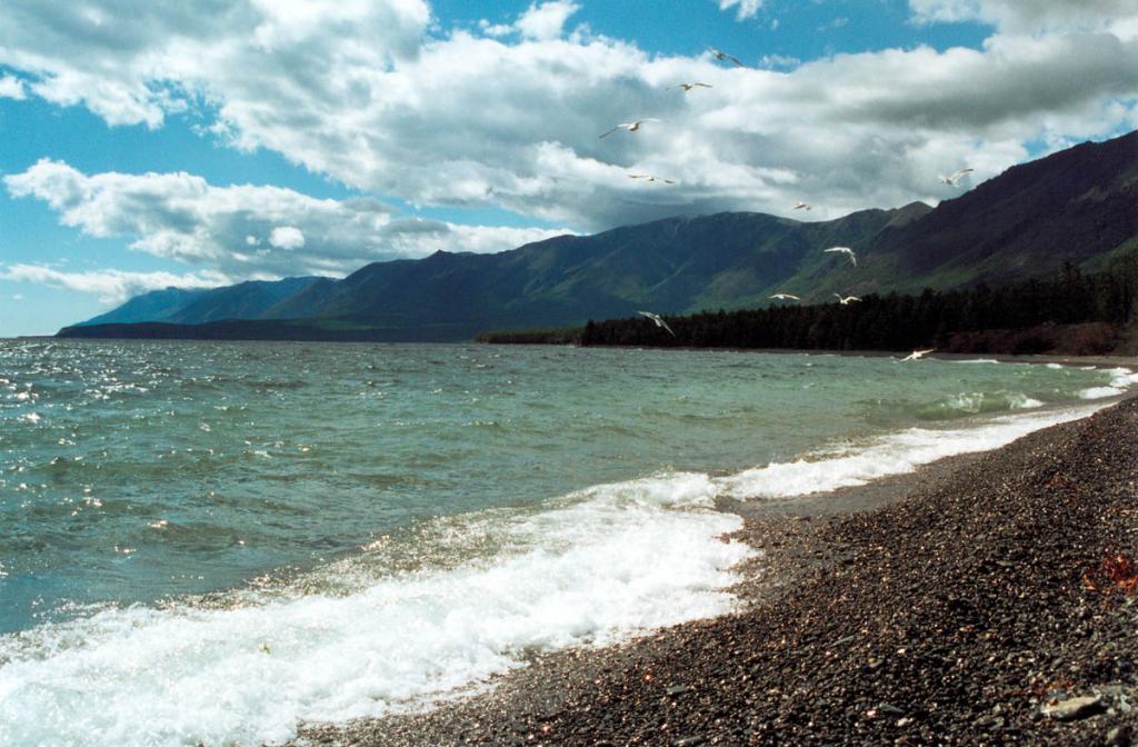 Северо-западное побережье у Солонцовых мысов - одно из красивейших мест северного Байкала. В летнее время вода здесь может прогреваться до двадцати двух градусов выше нуля.