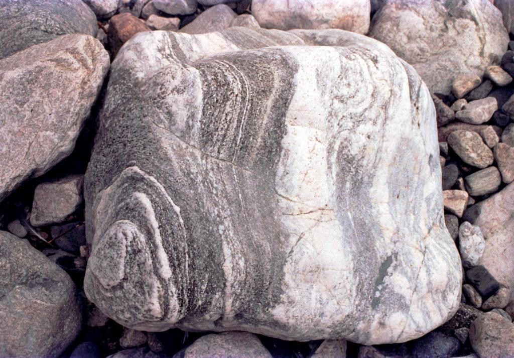Камень на берегу Байкала (северо-западное побережье севернее устья р. Ледяная).