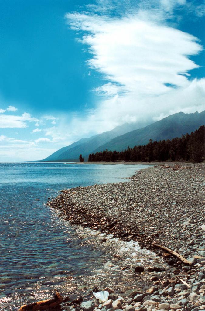 Северо-западное побережье в 1 километре севернее мыса Северный Кедровый.