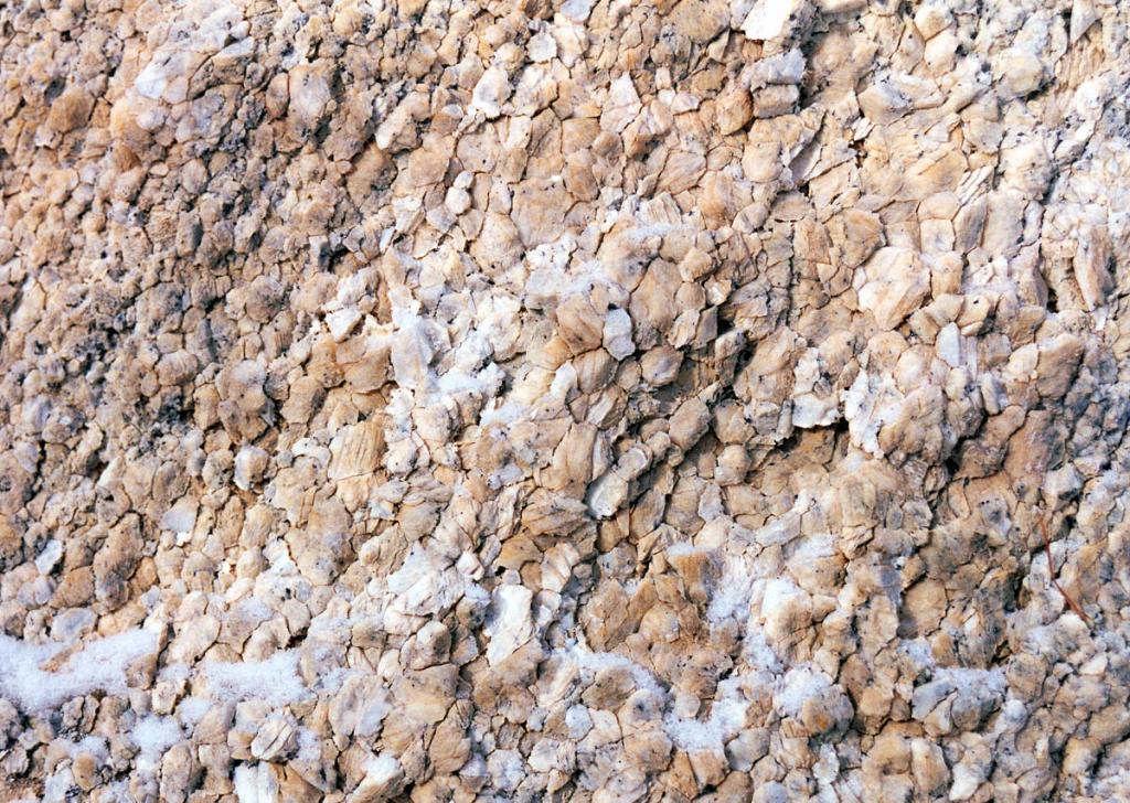 Поверхность выветрелой гранитной скалы.