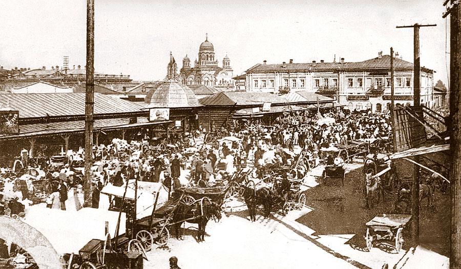Мелочной базар на Ивановской площади