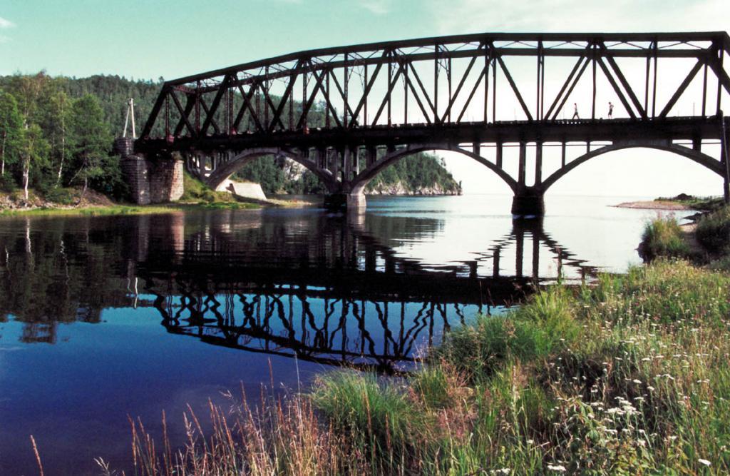 Железобетонный арочный мост над устьем речки Половинная. КБЖД.
