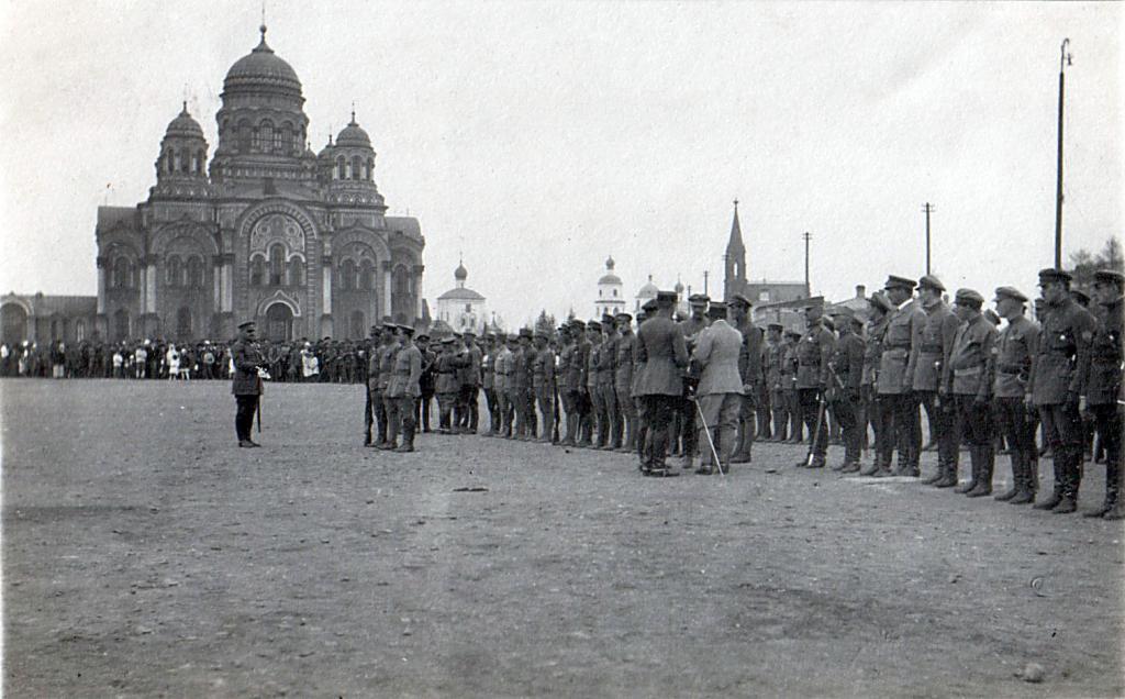 Награждение 1 стрелкового полка в Иркутске 25 мая1919