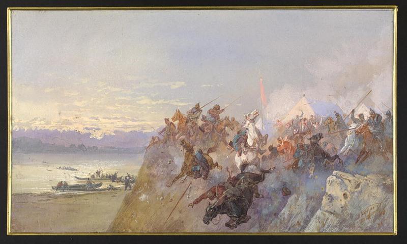 «Последний кучумовский разгром 1598 года. Разгром войск сибирского хана Кучума на реке Ирмени»