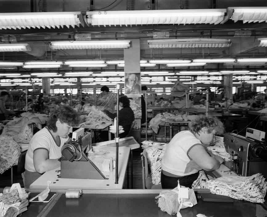 На швейной фабрике города Братска