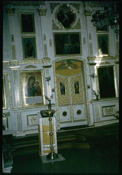 Интерьер церкви в селе Николы на Байкале