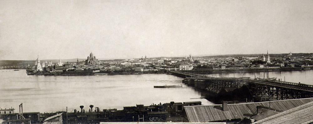 Понтонный мост через Ангару. 1891 г.