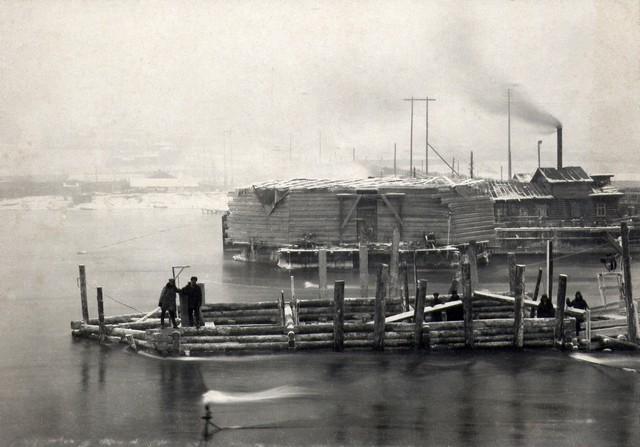 Ряж №1 установлен на место. 23 ноября 1934г.