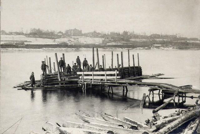 Спуск ряжа №1 в воду. Ноябрь 1934г.