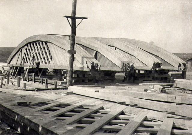 Кружала подготовлены для установки связей. Апрель 1935г.