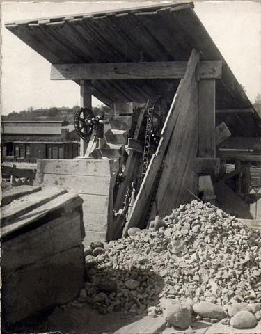 На камнедробильном заводе левого берега. Август 1935г.
