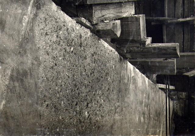 Наружная поверхность арки… …борки опалубки и насечки бучардо