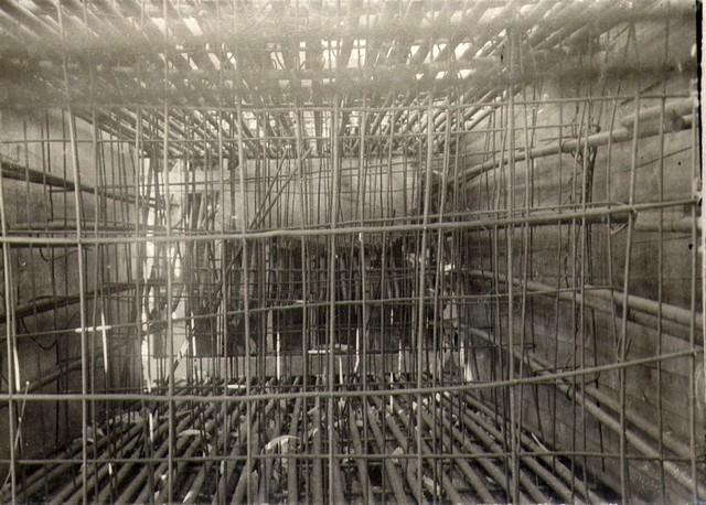 Укладка арматуры в арках. Август 1935г.