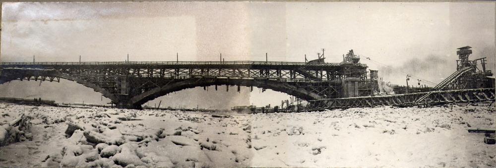 Общий вид постройки. Январь 1936г.