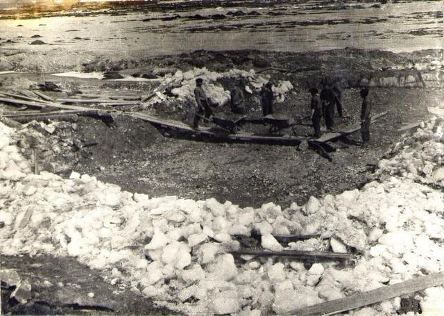 Устройство островка под кессон на о…. товарной станции. Апрель 36г.