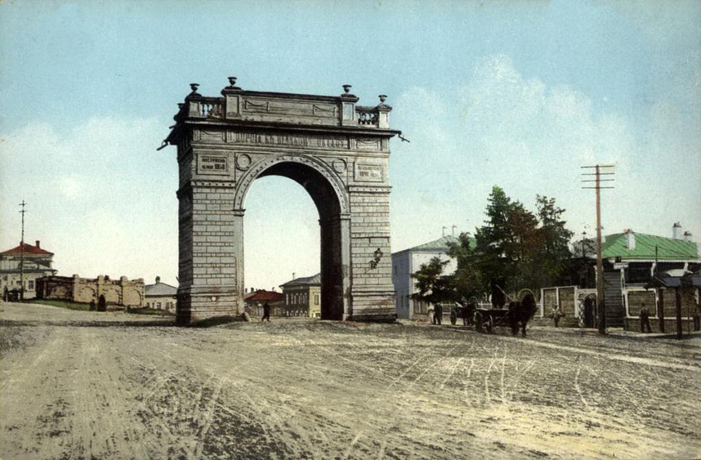 Амурские ворота и лютеранское кладбище на стрелке Байкальского тракта