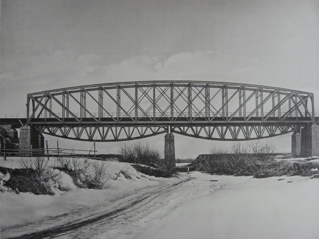 2824 верста. Старый и новый Заларинский мосты.