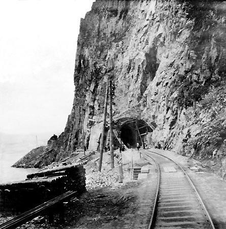 Кругобайкальская железная дорога. Строительство тоннеля. 1903 г.