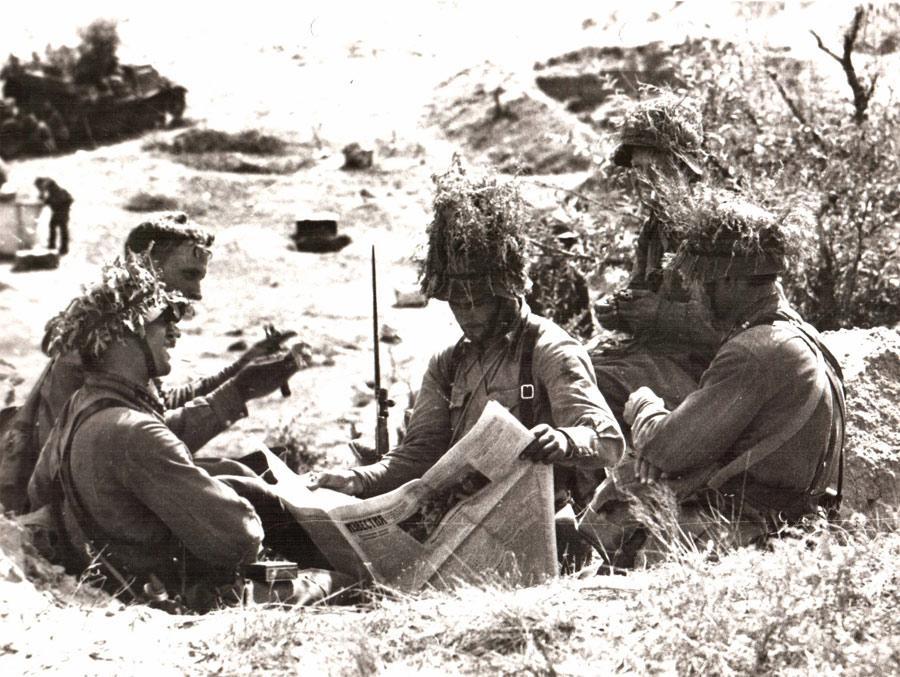 Бойцы Красной армии между боями. Халхин-Гол