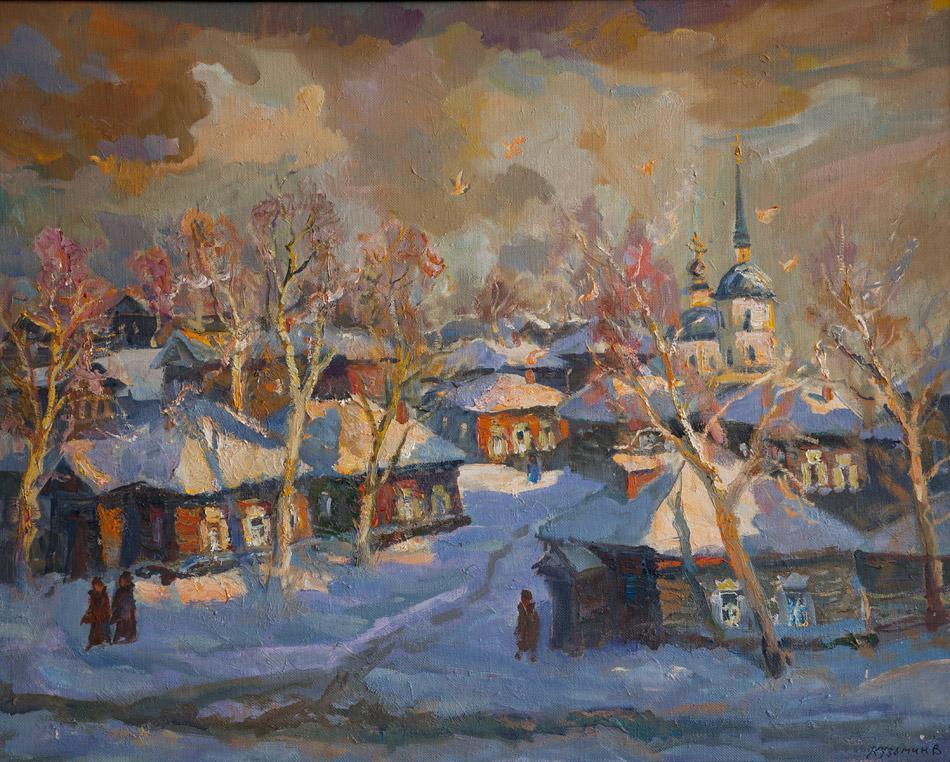 Домишки Иркутска. 1999, х. м., 80х100