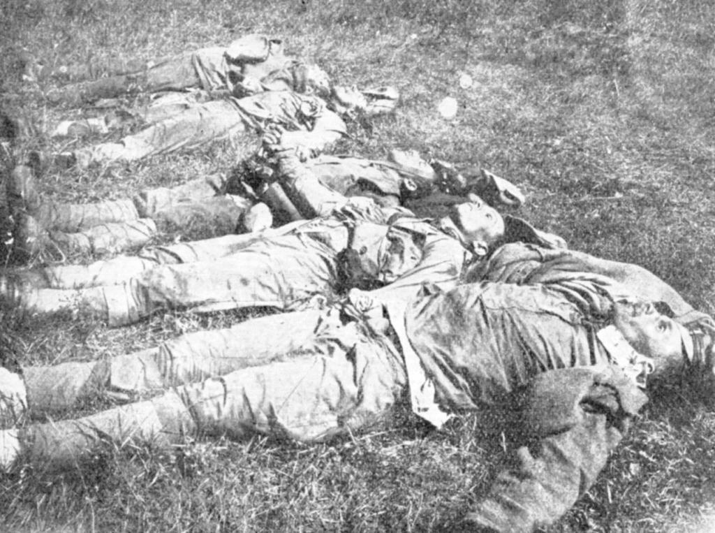 Убитые легионеры под Посольской