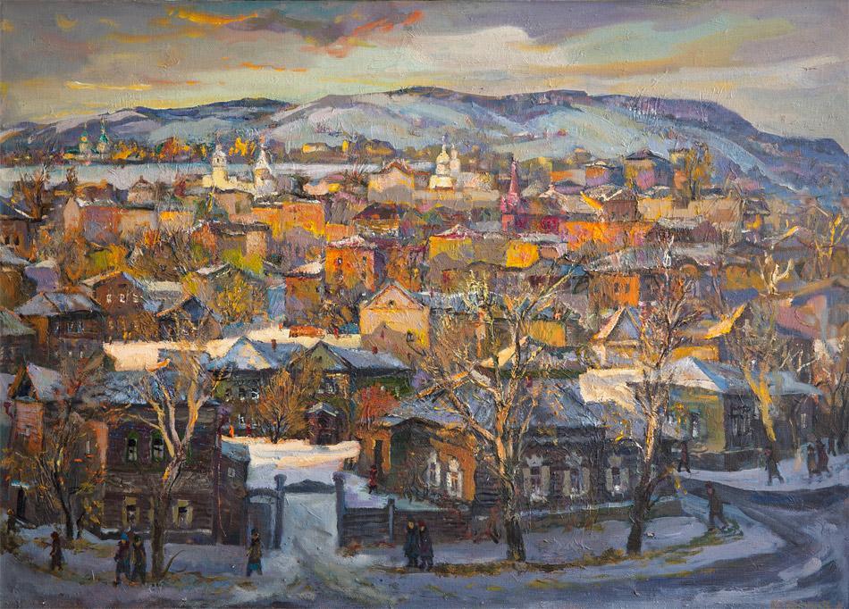 Вечерний Иркутск. 2003, х. м., 80х112