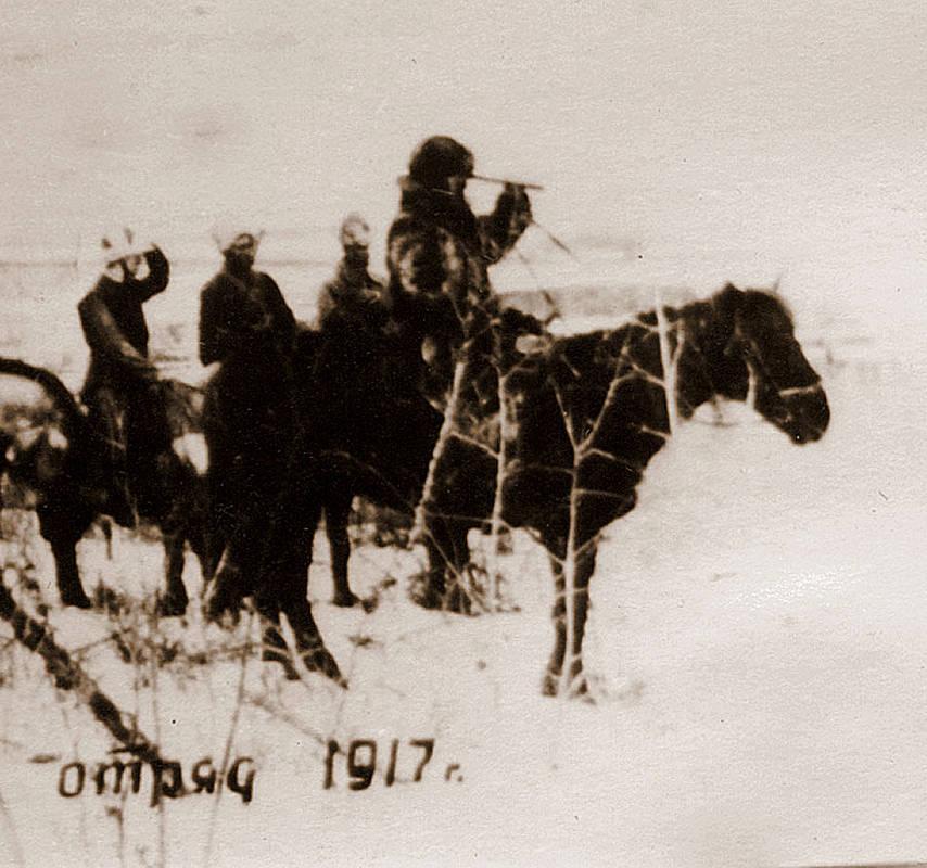 Каландарашвили со своим отрядом. 1919