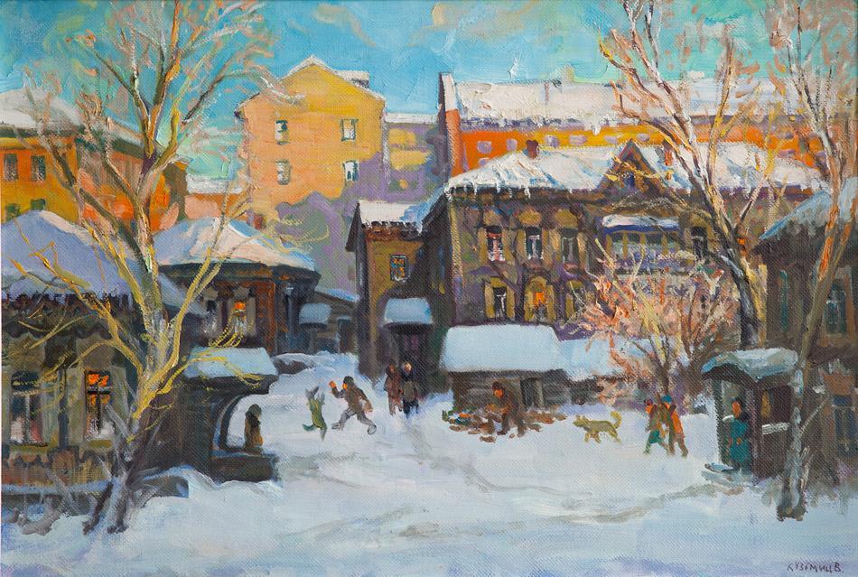 Иркутский дворик. 2010, х. м., 65х95