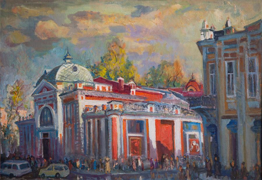 Выставочный зал. 2005, х. м., 70х100
