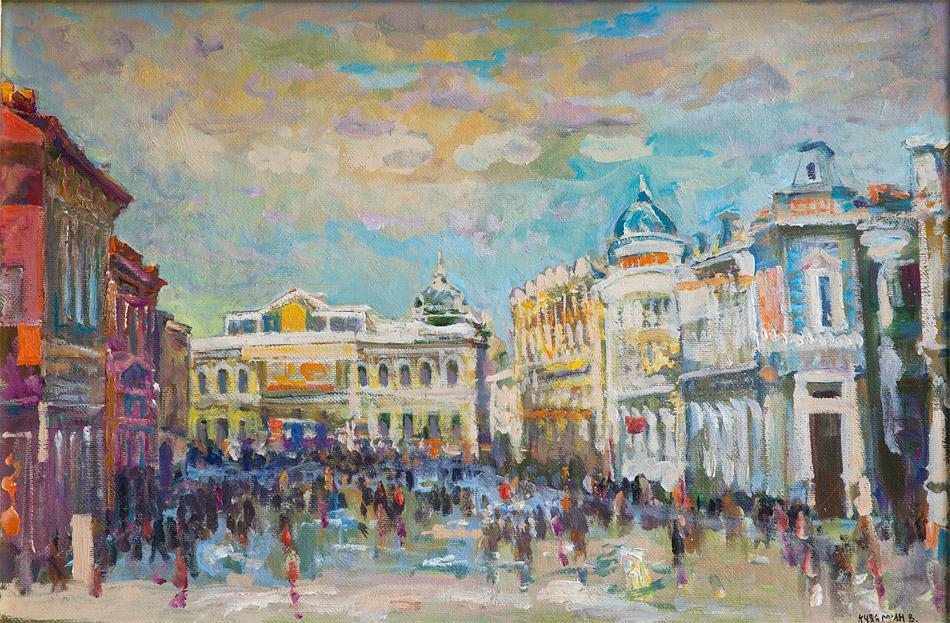 Улица Саломатинская. 2007, х. м., 63х94