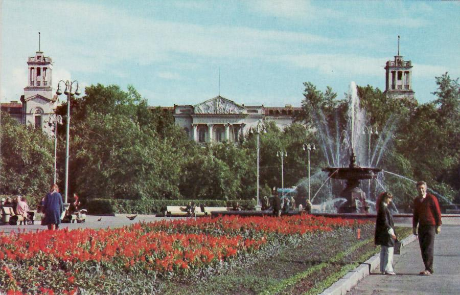 Иркутск. Площадь им. С.М. Кирова. Фонтан