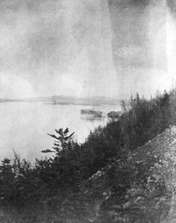 Предположительно Иркутск, р. Ангара, 1905 г. Стереоснимок.