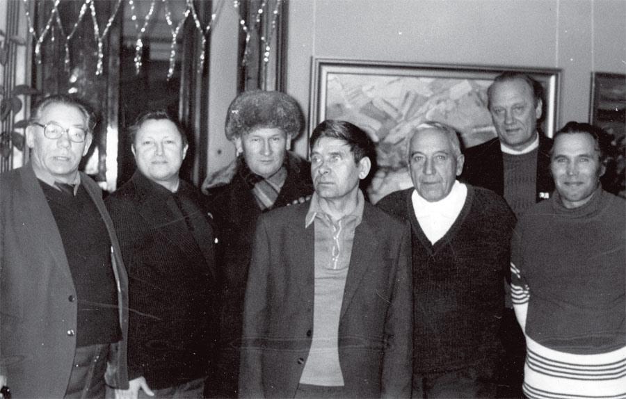 Слева направо: В. Соколов, Г. Машкин, В. Стуков, Е. Суворов, Г. Богач, Р. Филиппов, А. Горбунов