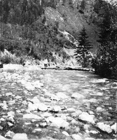 Забайкалье. Река Слюдянка. Близ поселка Слюдянка. 30 июня 1909 г. Стереоснимок.