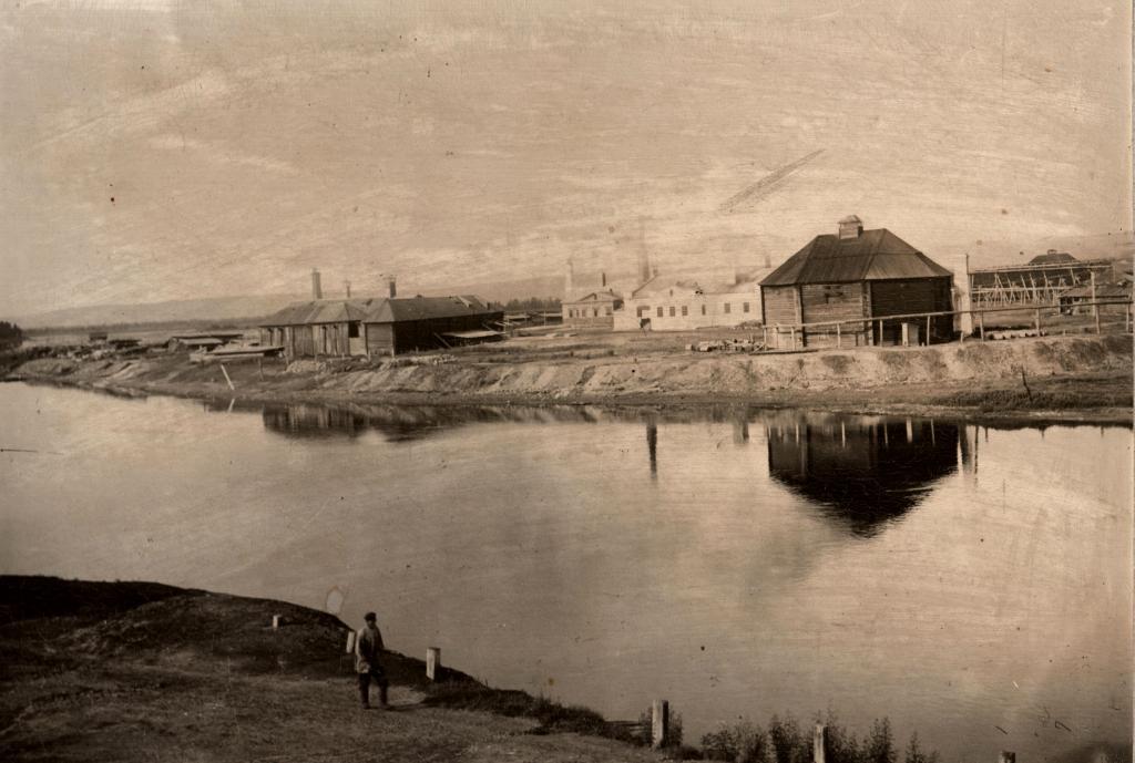 Вид солеваренного завода в с. Усолье