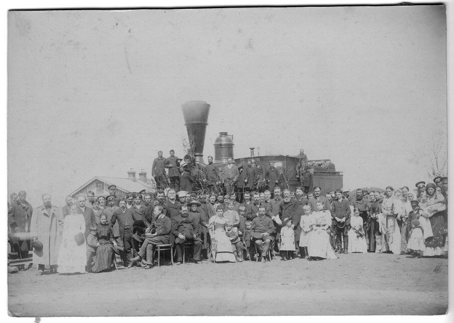 Встреча первого поезда в Иркутске