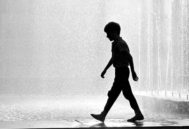 У фонтана. Иркутск 1991 год
