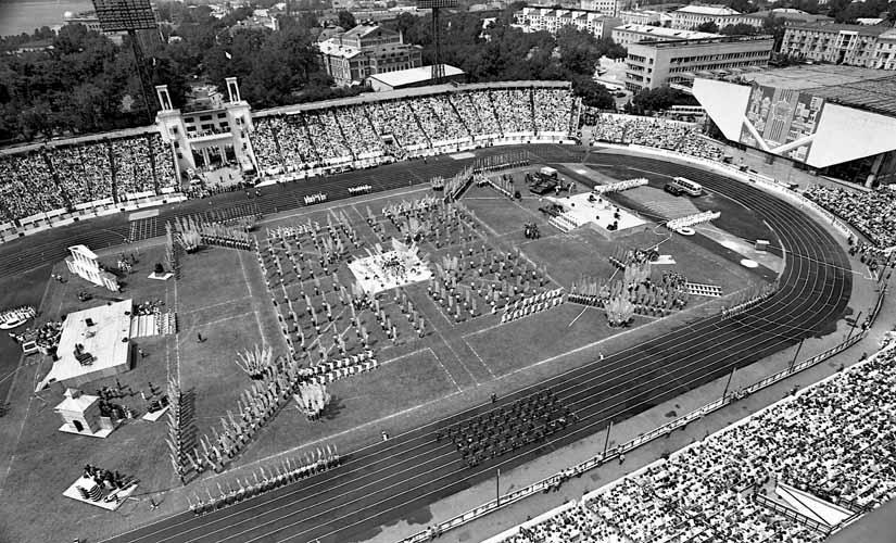 "День города, 1986 год. Стадион ""Труд"""