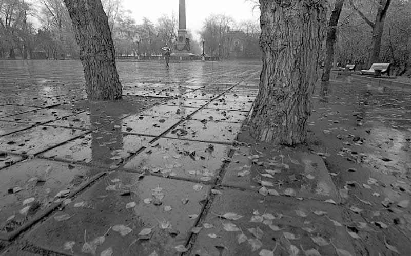 Иркутск осенний. Бульвар Гагарина, 1987 год